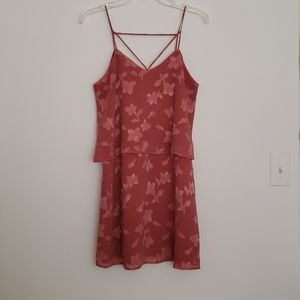 Abbeline Tiered Strappy Floral Dress, Size Small